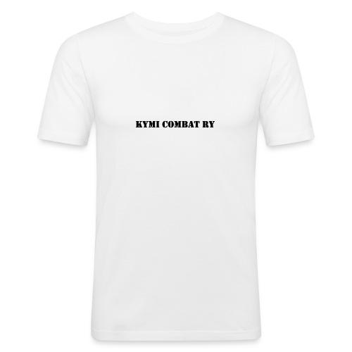 kc musta teksti transparent png - Miesten tyköistuva t-paita