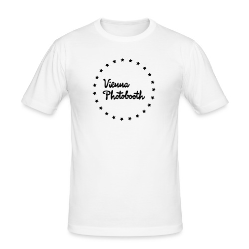 Vienna Photobooth Logo - Männer Slim Fit T-Shirt