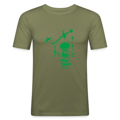 tonearm05 - Mannen slim fit T-shirt