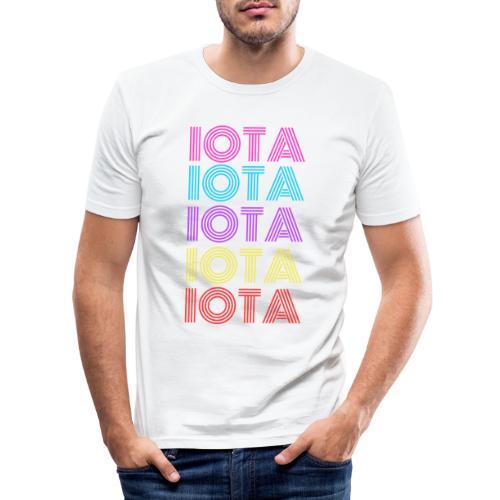 IOTA RETRO - 80s Kryptowährung - Männer Slim Fit T-Shirt