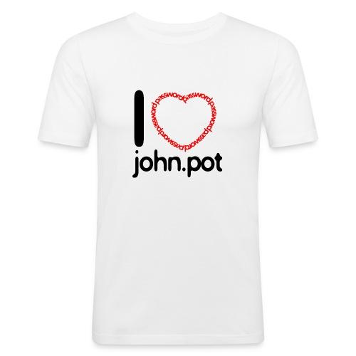I Love John.pot - Men's Slim Fit T-Shirt