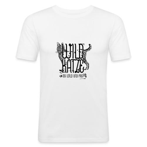Wildkatze Sei wild und frei Geschenkidee - Männer Slim Fit T-Shirt