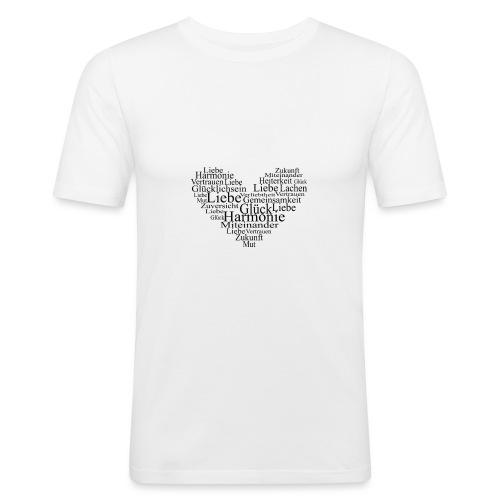Herz - Männer Slim Fit T-Shirt