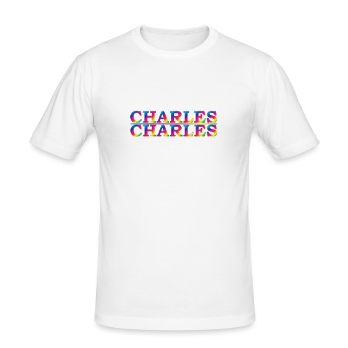 CHARLES rainbow - Men's Slim Fit T-Shirt
