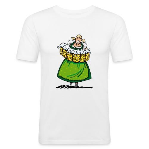 Oktoberfest Bedienung Maßkrüge - Männer Slim Fit T-Shirt