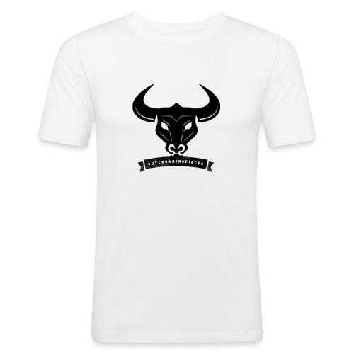 DGP Logo T-shirt Wit Klein - Mannen slim fit T-shirt