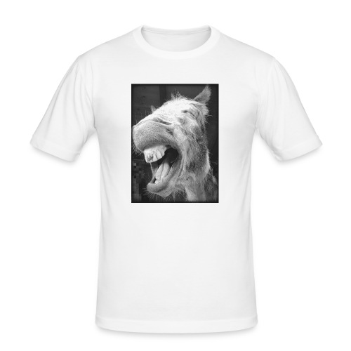 lachender Esel - Männer Slim Fit T-Shirt
