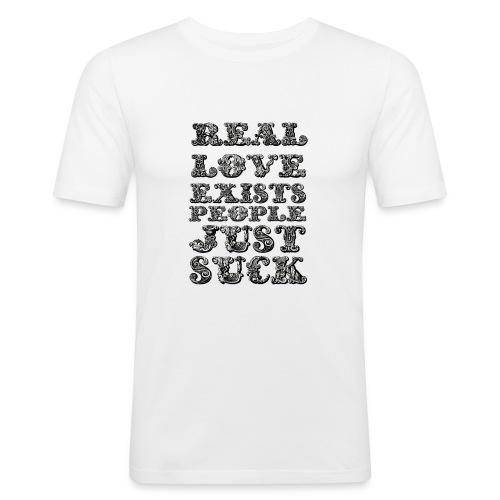 Real Love Exists REBEL INC. - Obcisła koszulka męska