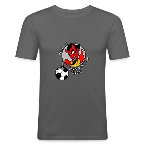 ontwerp_vrijgezellen3 - Mannen slim fit T-shirt