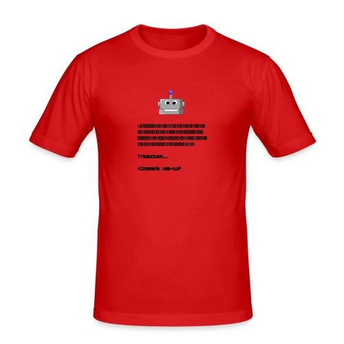 Salutation robotique - T-shirt près du corps Homme