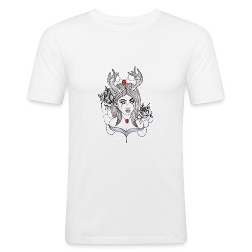 Articles personnalisés femme démon - T-shirt près du corps Homme
