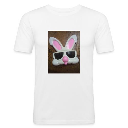 Konijnen bril - Mannen slim fit T-shirt