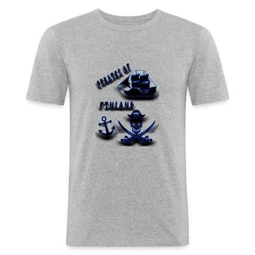 Pirates - Miesten tyköistuva t-paita