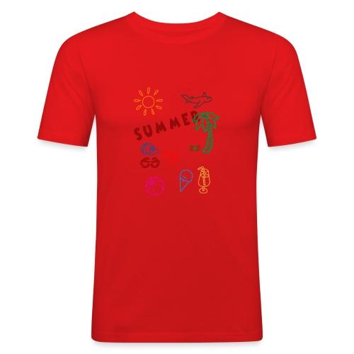 Summer - Miesten tyköistuva t-paita