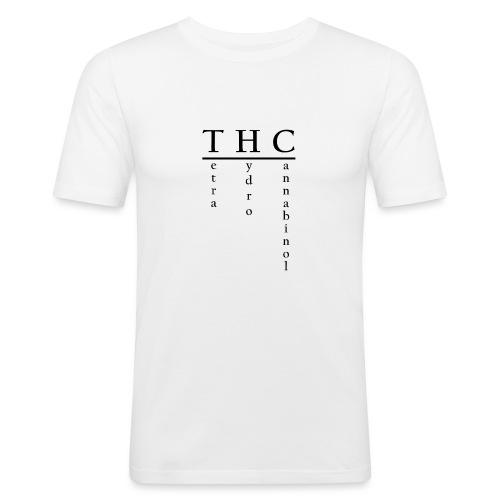 THC-Tetrahydrocannabinol - Männer Slim Fit T-Shirt