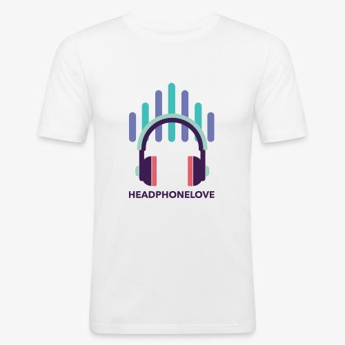 headphonelove - Männer Slim Fit T-Shirt