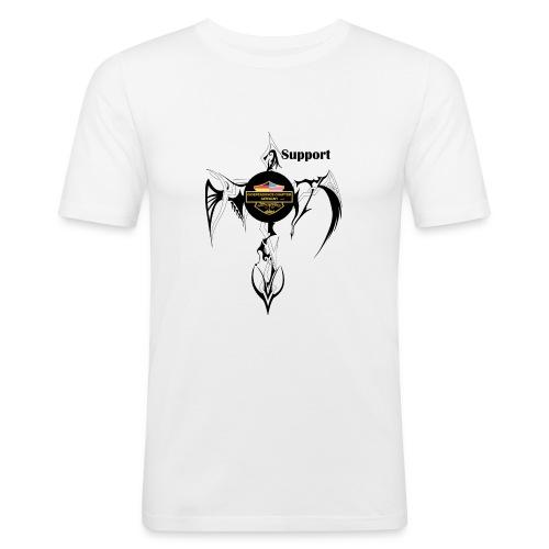 Support Indis Art Tattoo - Männer Slim Fit T-Shirt
