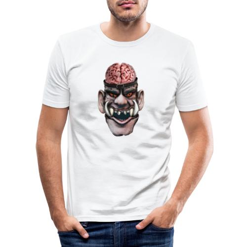 Big brain monster - Slim Fit T-shirt herr