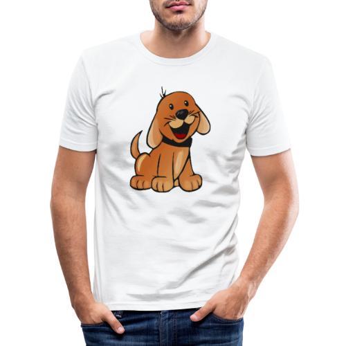 cartoon dog - Maglietta aderente da uomo