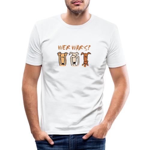 Wer war's? - Männer Slim Fit T-Shirt