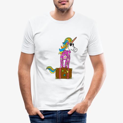 Unicorn trip - T-shirt près du corps Homme