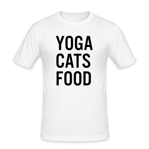 YOGA CATS FOOD LADIES ORGANIC T-SHIRT - Slim Fit T-shirt herr