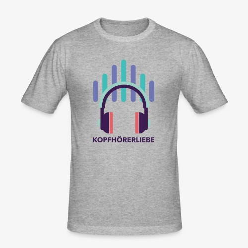 kopfhörerliebe - Männer Slim Fit T-Shirt