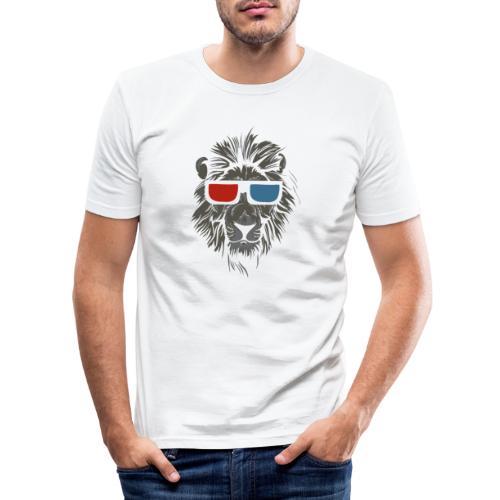 Lion 3D - Slim Fit T-shirt herr