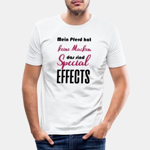 Mein Pferd hat keine Macken, das sind Special Effe - Männer Slim Fit T-Shirt