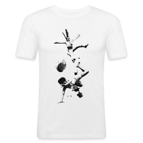 UPPPP png - Männer Slim Fit T-Shirt