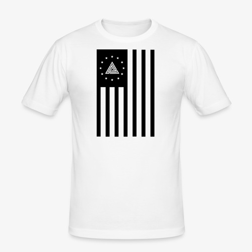Hizo Logo usa black png - Men's Slim Fit T-Shirt