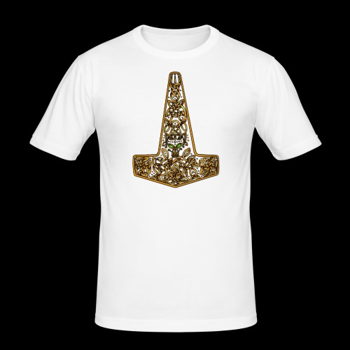 Wolf of Tyr - Gold - Men's Slim Fit T-Shirt