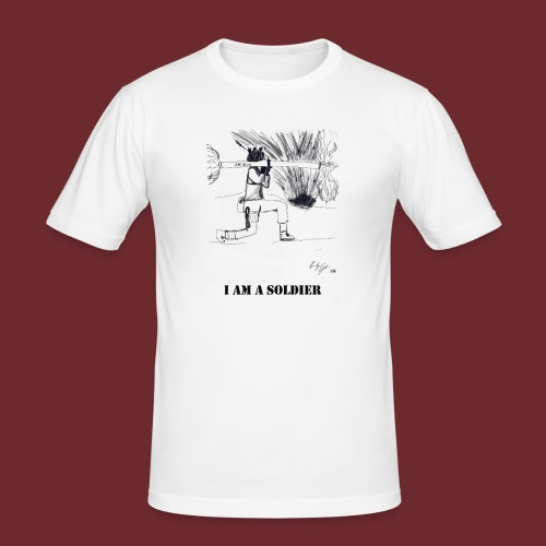 I AM A SOLDIER, by Kristijan Grkic - Männer Slim Fit T-Shirt