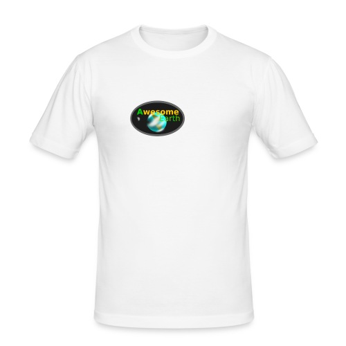 awesome earth - Men's Slim Fit T-Shirt
