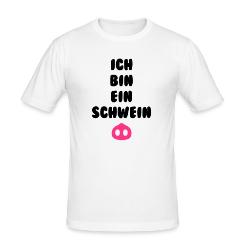 Ich bin ein schwein - Mannen slim fit T-shirt