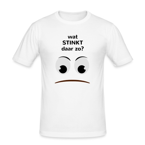 Grappige Rompertjes: Wat stinkt daar zo - Mannen slim fit T-shirt