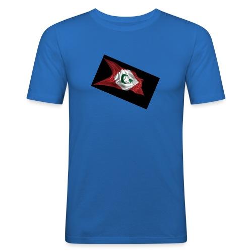 rif flag drapeau du rif de 1921 au 1927 Tamazgha.. - Mannen slim fit T-shirt