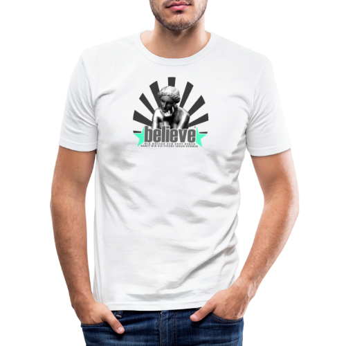 believe 3 - Männer Slim Fit T-Shirt