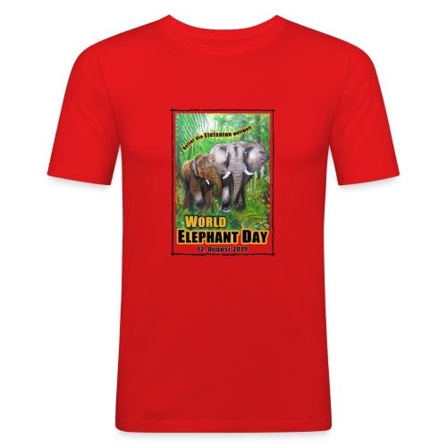 Welt-Elefanten-Tag 12. August 2019 - Männer Slim Fit T-Shirt