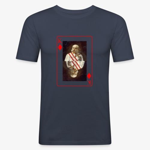 Kaiser Franz von Österreich spielkarte - Männer Slim Fit T-Shirt