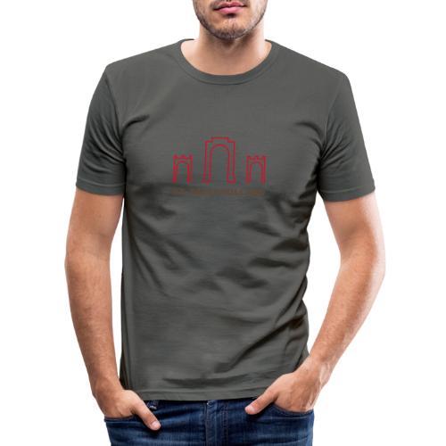 2019 st pauli nl t shirt millerntor 2 - Mannen slim fit T-shirt