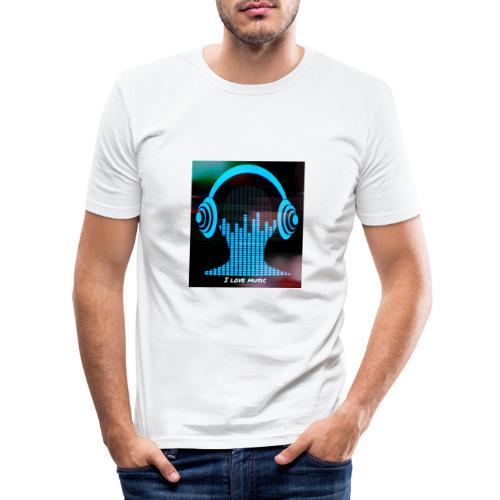 I love music - Camiseta ajustada hombre