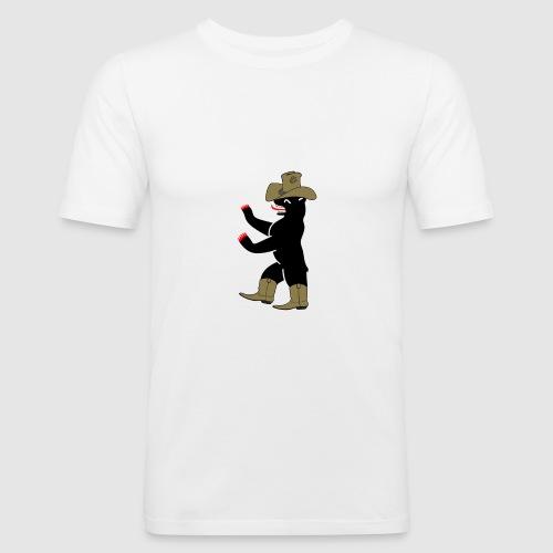 Berlin Bär cowboy - Männer Slim Fit T-Shirt