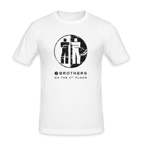 2 Brothers Black text - Men's Slim Fit T-Shirt