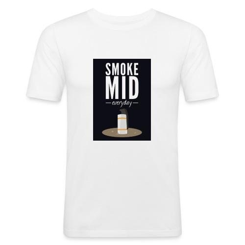 smoke mid - Mannen slim fit T-shirt