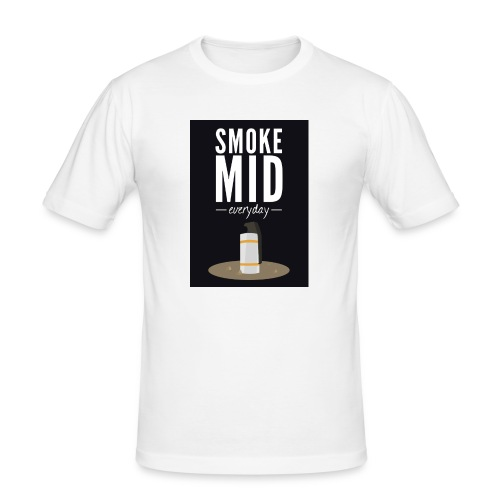 smoke mid - Mannen slim fit T-shirt