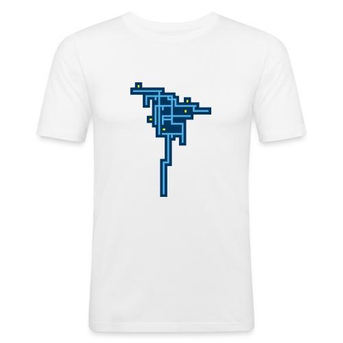 Blue Tree - Camiseta ajustada hombre