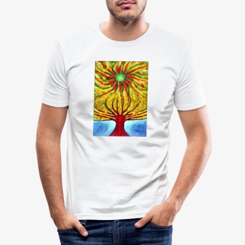 Green Sun - Obcisła koszulka męska