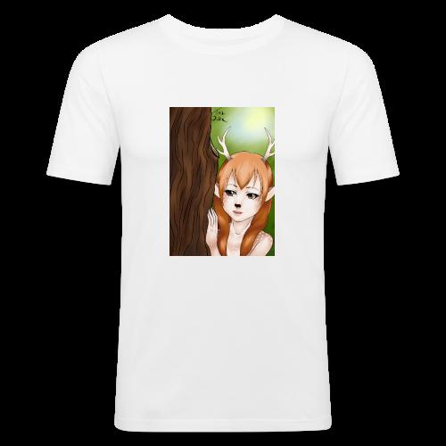 Sam sung s6:Deer-girl design by Tina Ditte - Men's Slim Fit T-Shirt