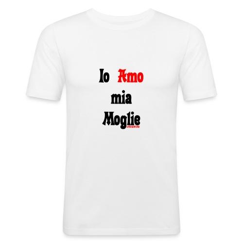Amore #FRASIMTIME - Maglietta aderente da uomo